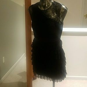 Black BCBG cocktail dress Homecoming Party lbd